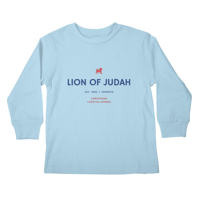 Lion Of Judah Kids Longsleeve T-Shirt by ChristGang Apparel