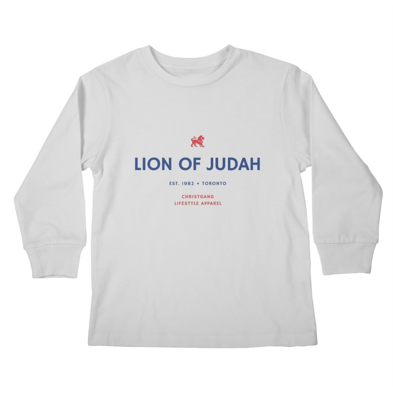 Lion Of Judah Kids Longsleeve T-Shirt by ChristGang Apparel