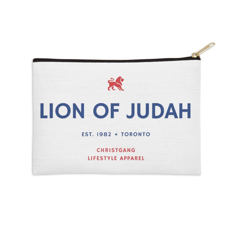 Lion Of Judah Accessories Zip Pouch by ChristGang Apparel