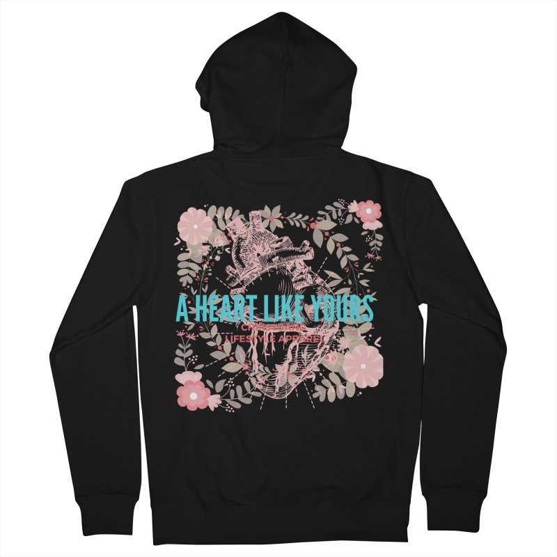 A Heart Like Yours Men's Zip-Up Hoody by ChristGang Apparel