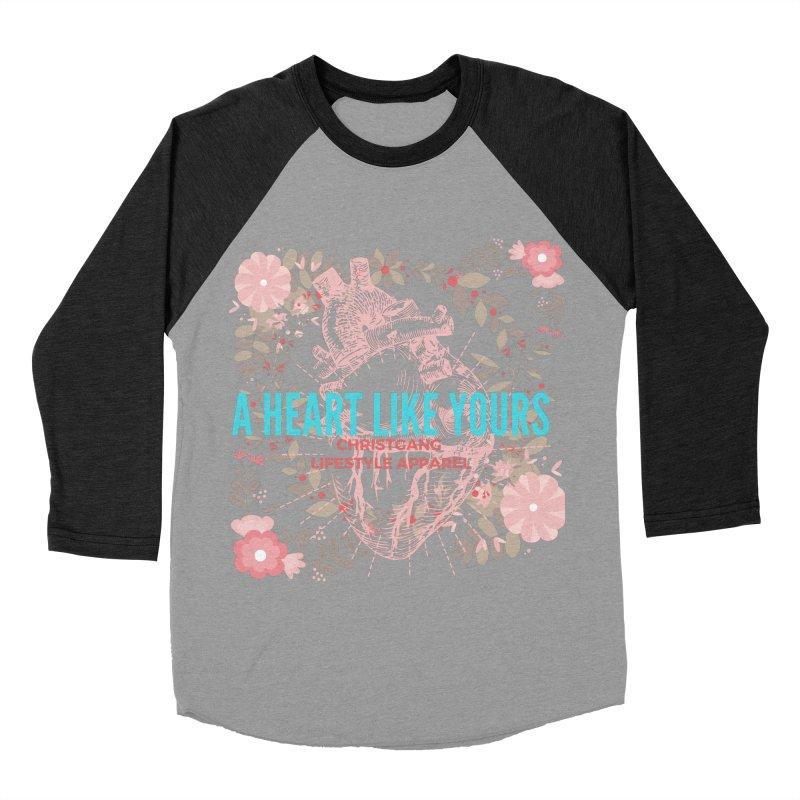 A Heart Like Yours Men's Baseball Triblend Longsleeve T-Shirt by ChristGang Apparel