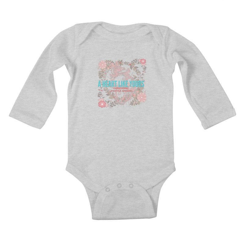 A Heart Like Yours Kids Baby Longsleeve Bodysuit by ChristGang Apparel