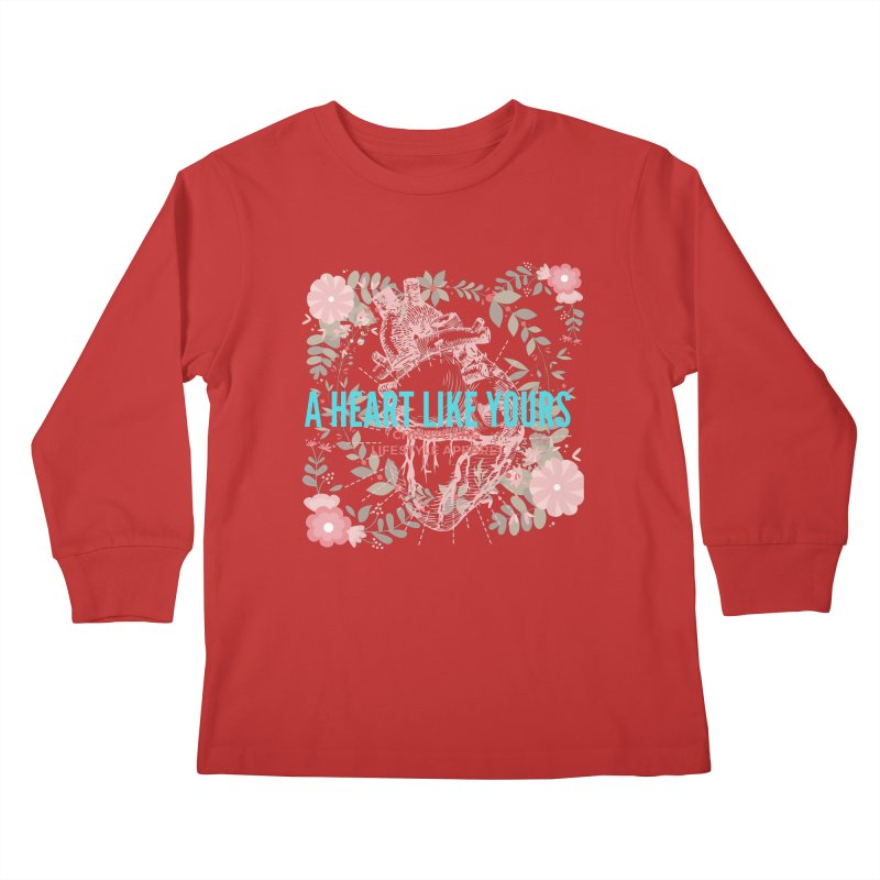 A Heart Like Yours Kids Longsleeve T-Shirt by ChristGang Apparel
