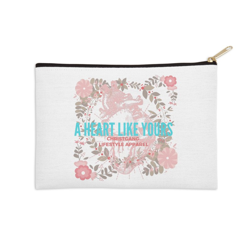 A Heart Like Yours Accessories Zip Pouch by ChristGang Apparel