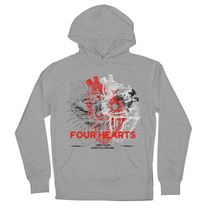 Four Hearts Women's Pullover Hoody by ChristGang Apparel