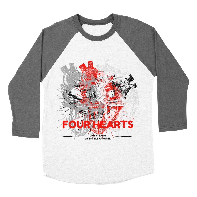 Four Hearts Women's Longsleeve T-Shirt by ChristGang Apparel