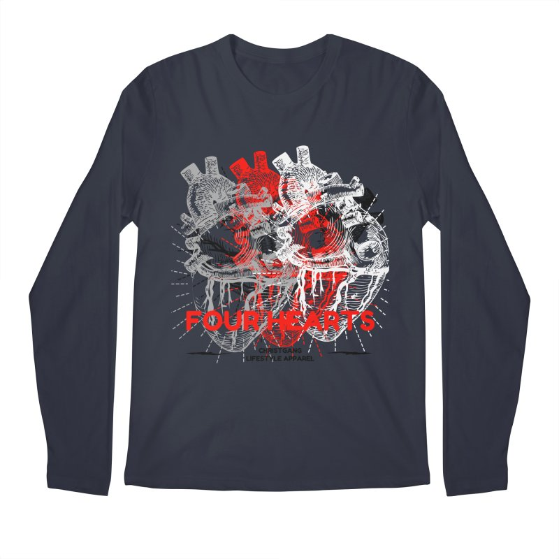 Four Hearts Men's Regular Longsleeve T-Shirt by ChristGang Apparel