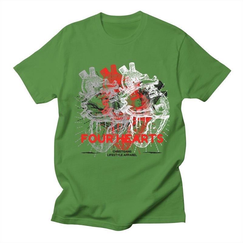 Four Hearts Women's Regular Unisex T-Shirt by ChristGang Apparel