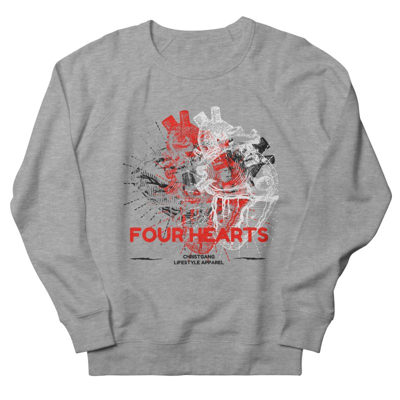 Four Hearts Women's French Terry Sweatshirt by ChristGang Apparel