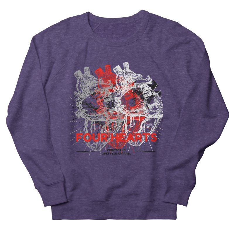 Four Hearts Men's French Terry Sweatshirt by ChristGang Apparel