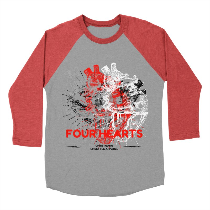 Four Hearts Women's Baseball Triblend Longsleeve T-Shirt by ChristGang Apparel