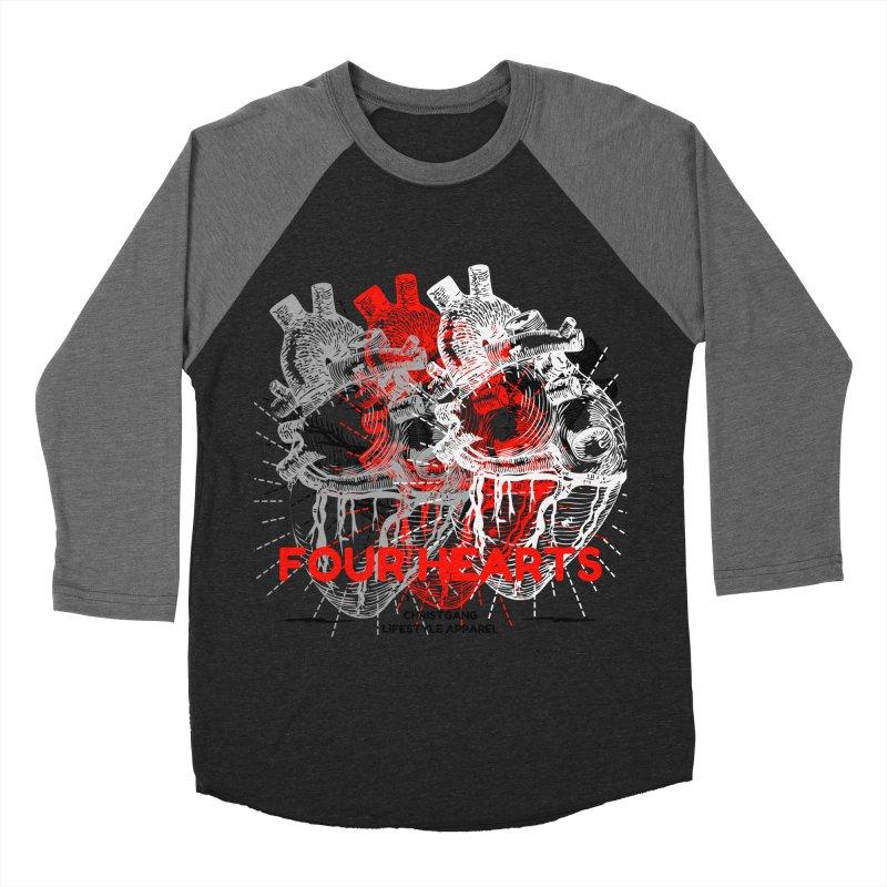 Four Hearts Men's Baseball Triblend Longsleeve T-Shirt by ChristGang Apparel