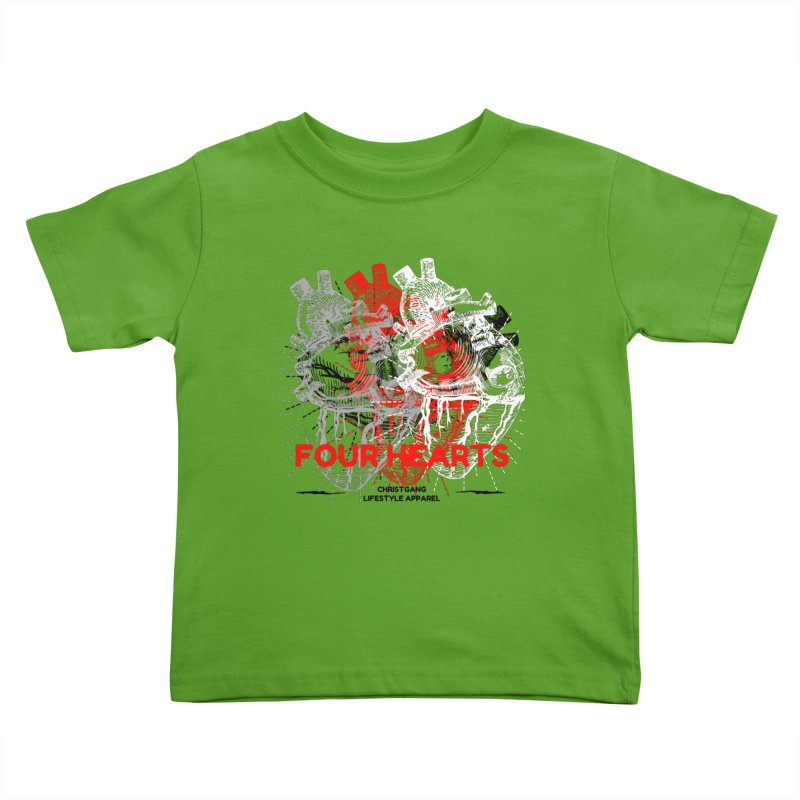 Four Hearts Kids Toddler T-Shirt by ChristGang Apparel