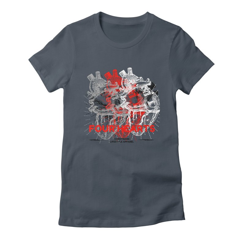 Four Hearts Women's T-Shirt by ChristGang Apparel