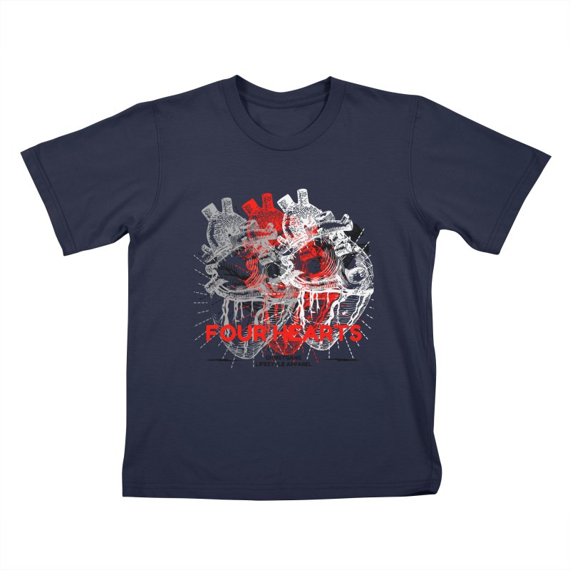 Four Hearts Kids T-Shirt by ChristGang Apparel