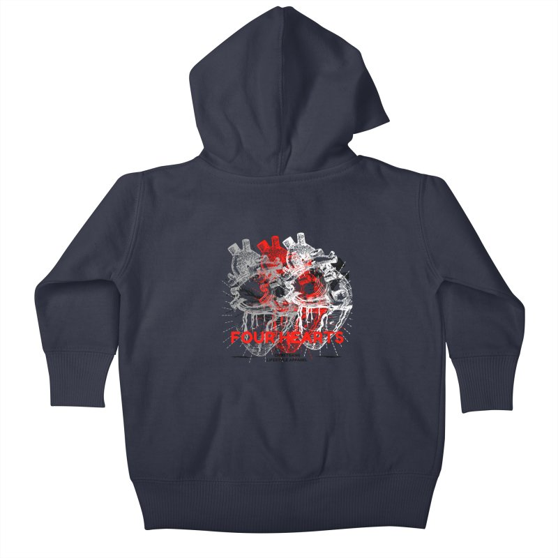 Four Hearts Kids Baby Zip-Up Hoody by ChristGang Apparel