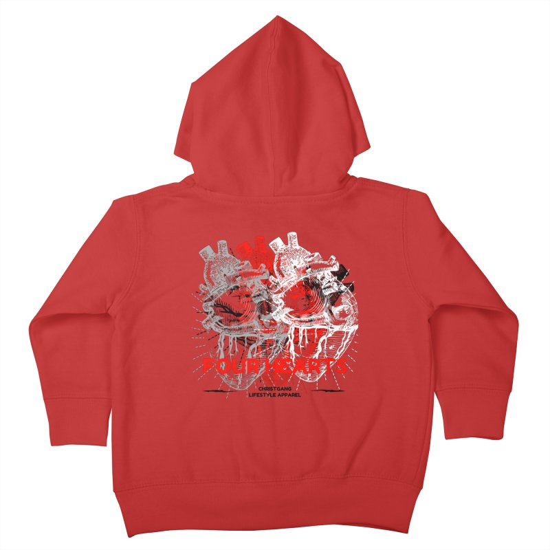 Four Hearts Kids Toddler Zip-Up Hoody by ChristGang Apparel