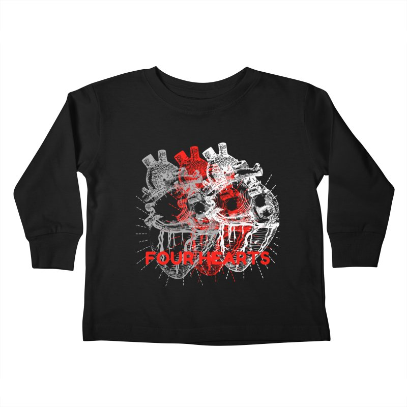 Four Hearts Kids Toddler Longsleeve T-Shirt by ChristGang Apparel