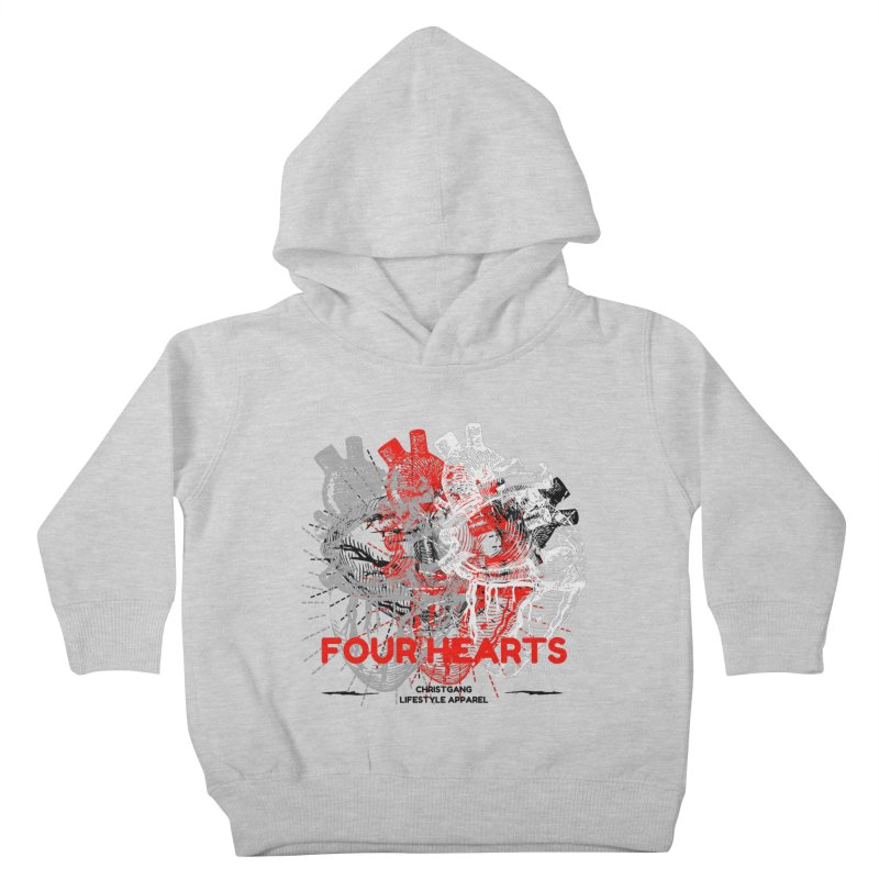 Four Hearts Kids Toddler Pullover Hoody by ChristGang Apparel