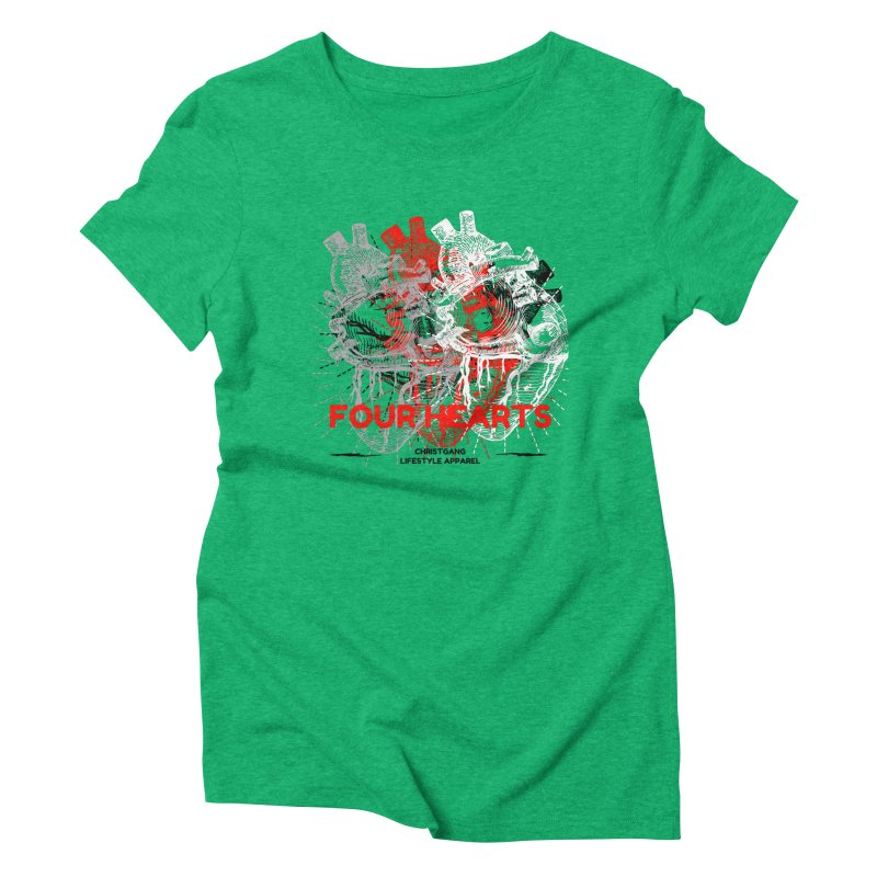 Four Hearts Women's Triblend T-Shirt by ChristGang Apparel