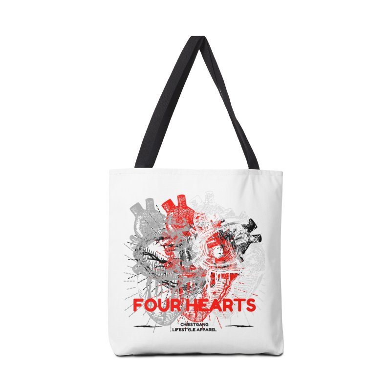 Four Hearts Accessories Bag by ChristGang Apparel
