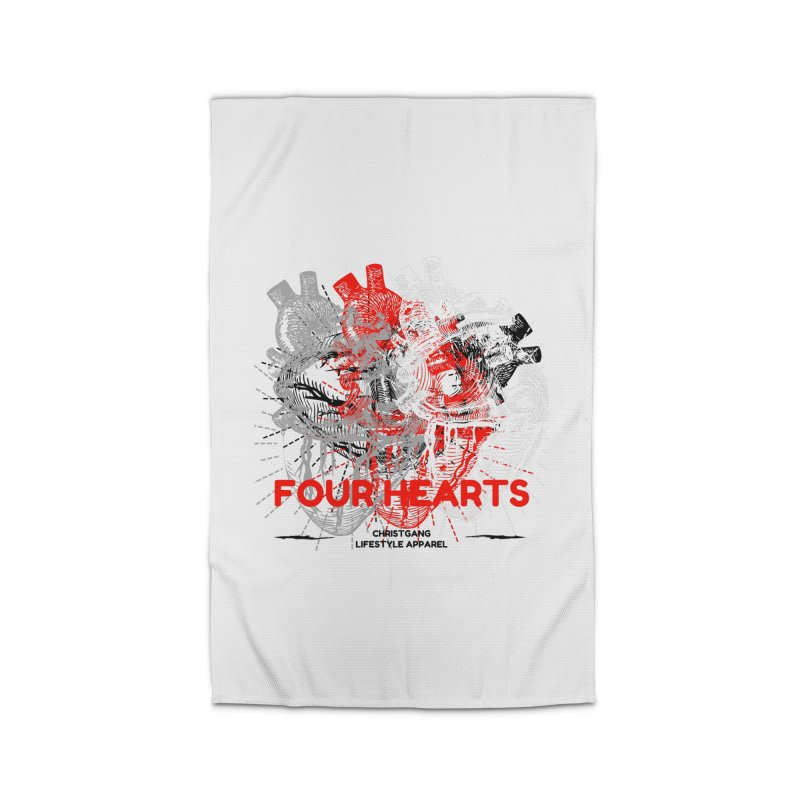 Four Hearts Home Rug by ChristGang Apparel