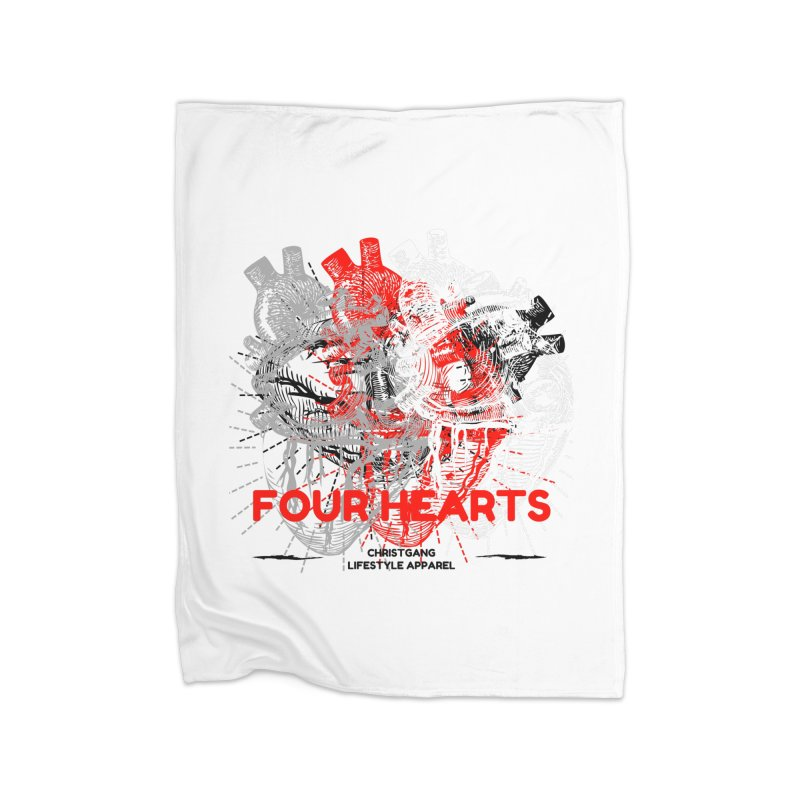 Four Hearts Home Blanket by ChristGang Apparel