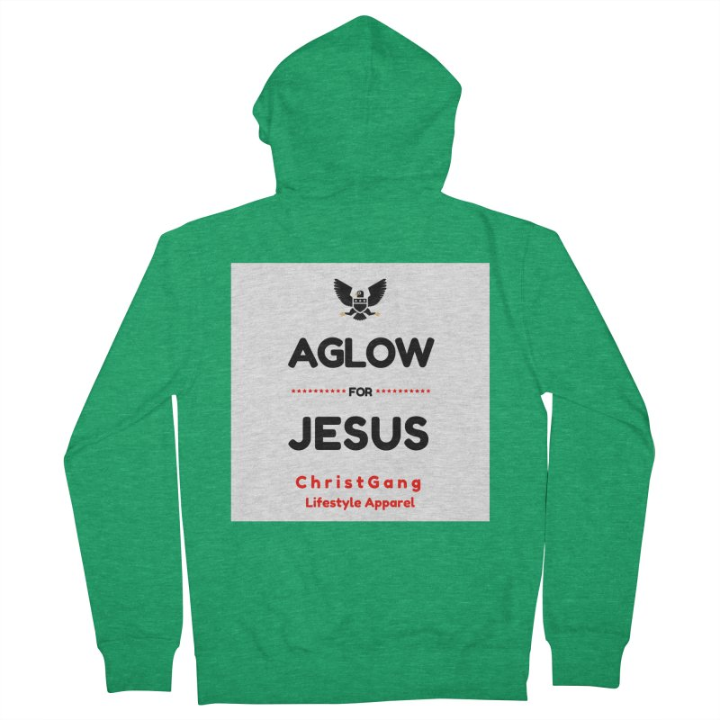 Aglow For Jesus Men's Zip-Up Hoody by ChristGang Apparel
