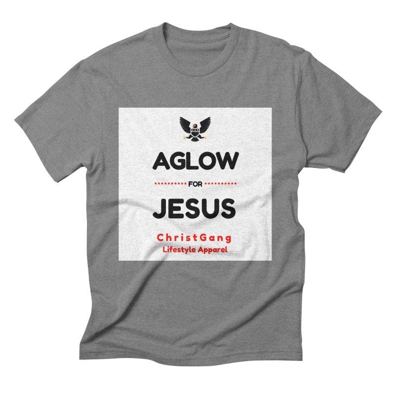 Aglow For Jesus Men's Triblend T-Shirt by ChristGang Apparel