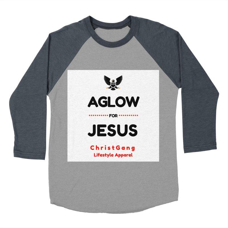 Aglow For Jesus Men's Baseball Triblend Longsleeve T-Shirt by ChristGang Apparel