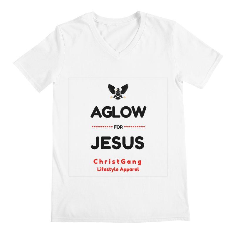 Aglow For Jesus Men's V-Neck by ChristGang Apparel