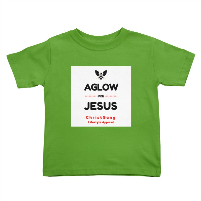 Aglow For Jesus Kids Toddler T-Shirt by ChristGang Apparel