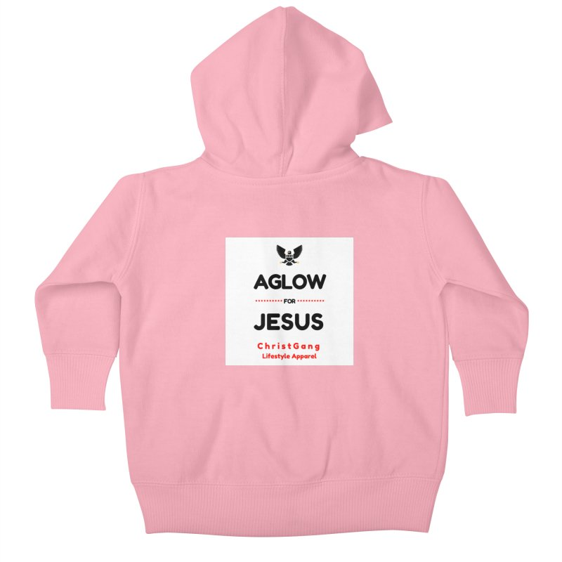 Aglow For Jesus Kids Baby Zip-Up Hoody by ChristGang Apparel