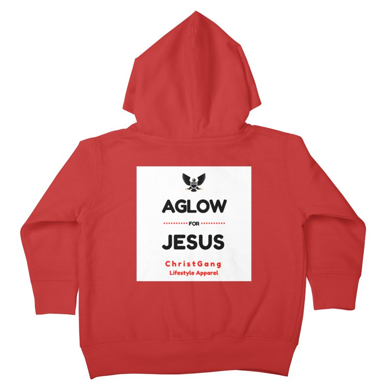 Aglow For Jesus Kids Toddler Zip-Up Hoody by ChristGang Apparel