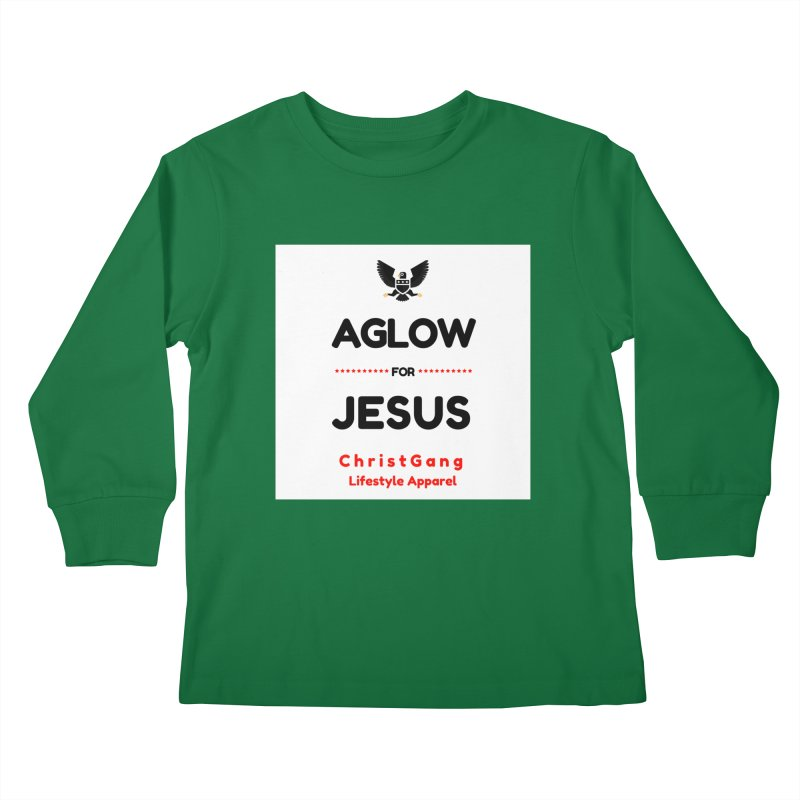 Aglow For Jesus Kids Longsleeve T-Shirt by ChristGang Apparel