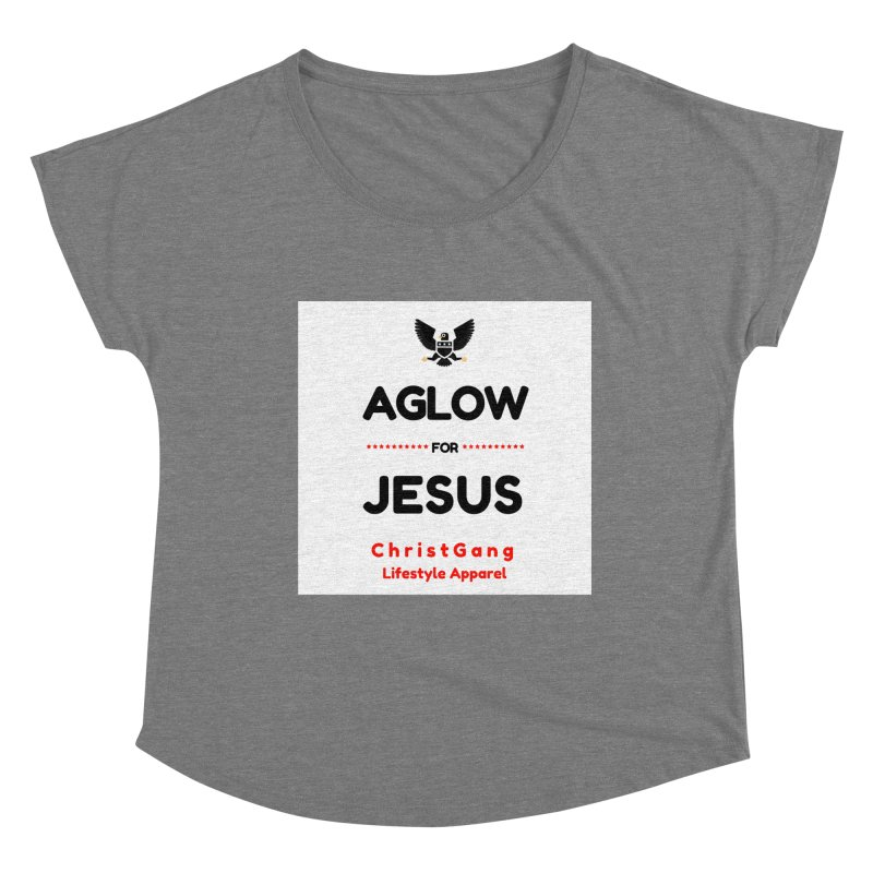 Aglow For Jesus Women's Scoop Neck by ChristGang Apparel
