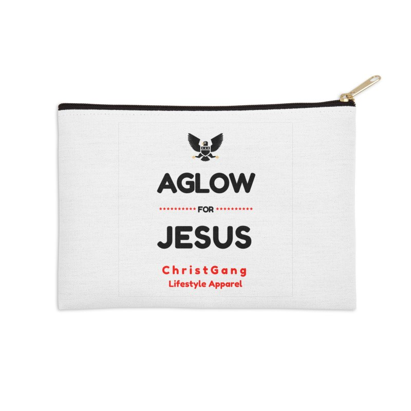 Aglow For Jesus Accessories Zip Pouch by ChristGang Apparel