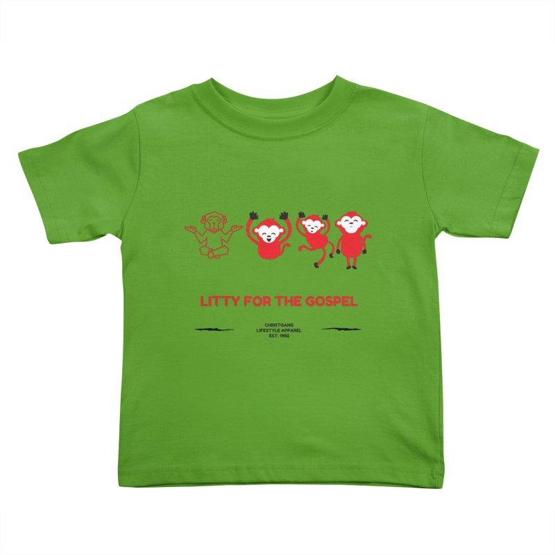 Litty For The Gospel Kids Toddler T-Shirt by ChristGang Apparel