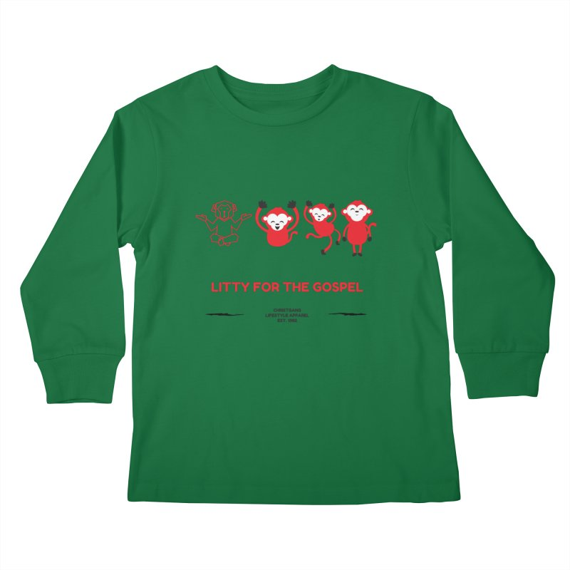 Litty For The Gospel Kids Longsleeve T-Shirt by ChristGang Apparel