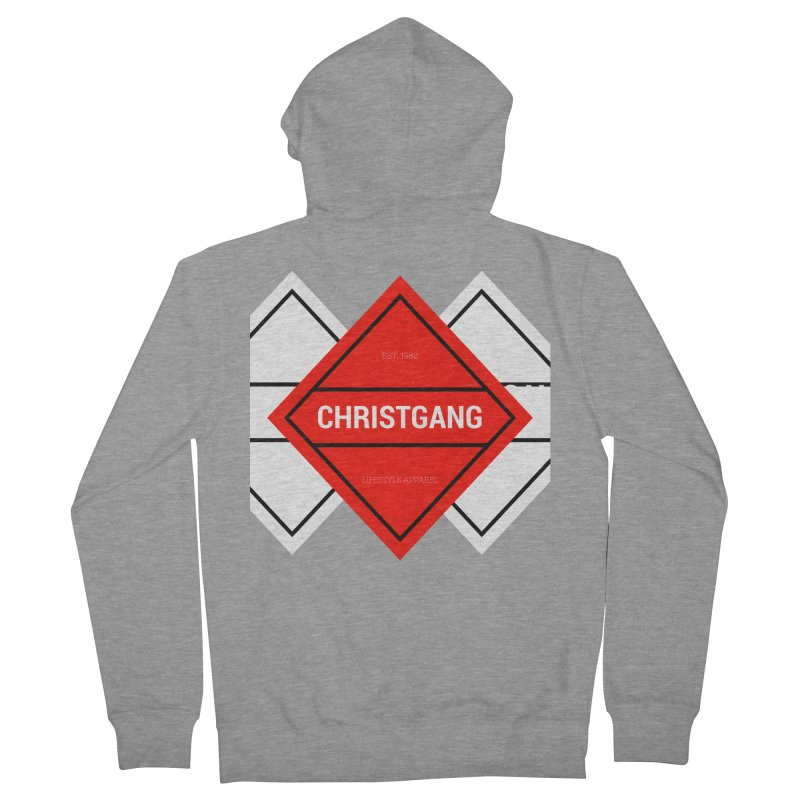 ChristGang Diamond Men's French Terry Zip-Up Hoody by ChristGang Apparel