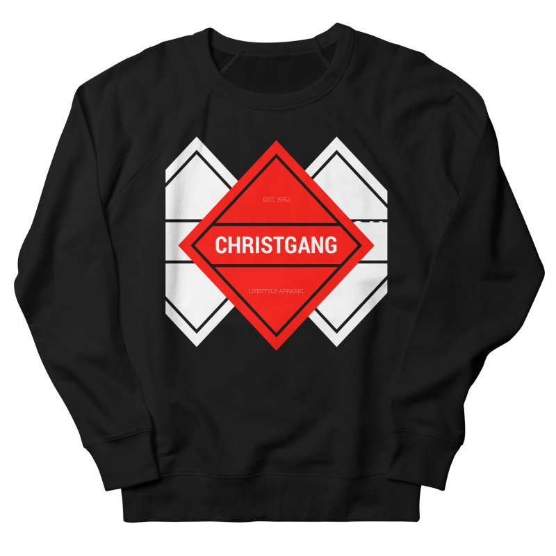 ChristGang Diamond in Men's French Terry Sweatshirt Black by ChristGang Apparel
