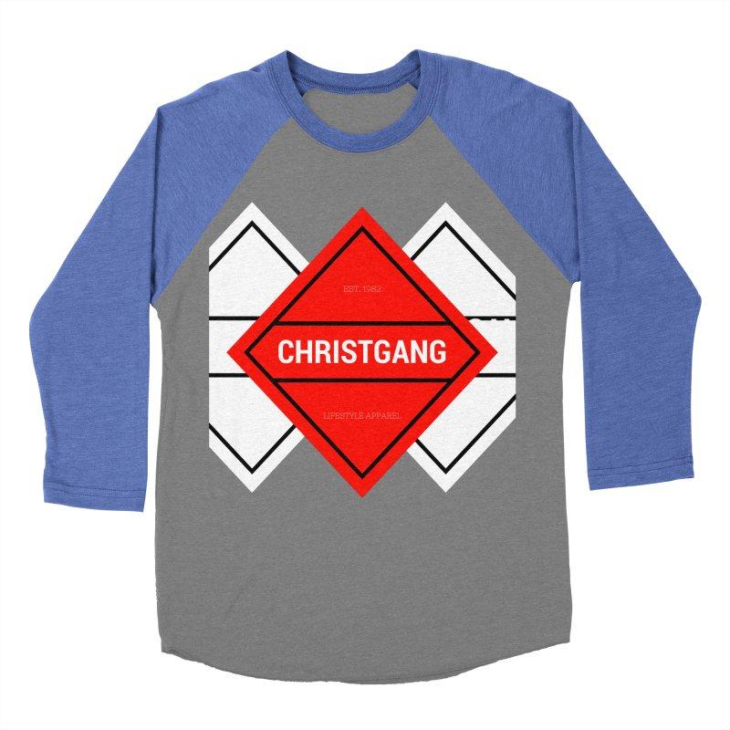 ChristGang Diamond Women's Baseball Triblend Longsleeve T-Shirt by ChristGang Apparel