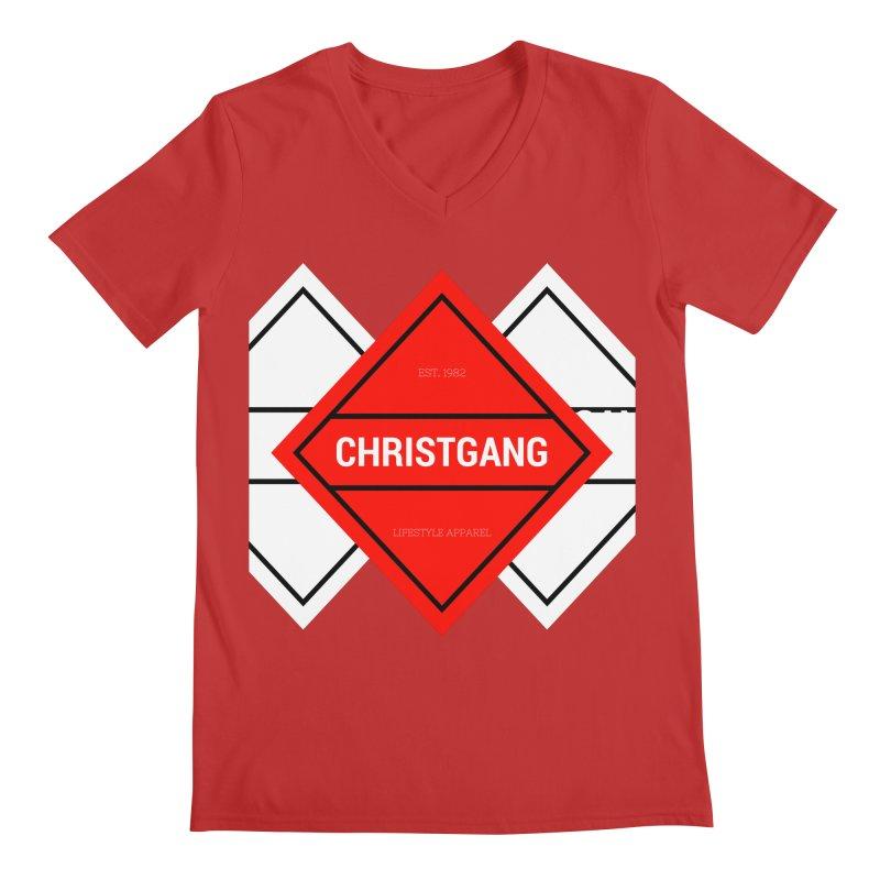 ChristGang Diamond Men's Regular V-Neck by ChristGang Apparel