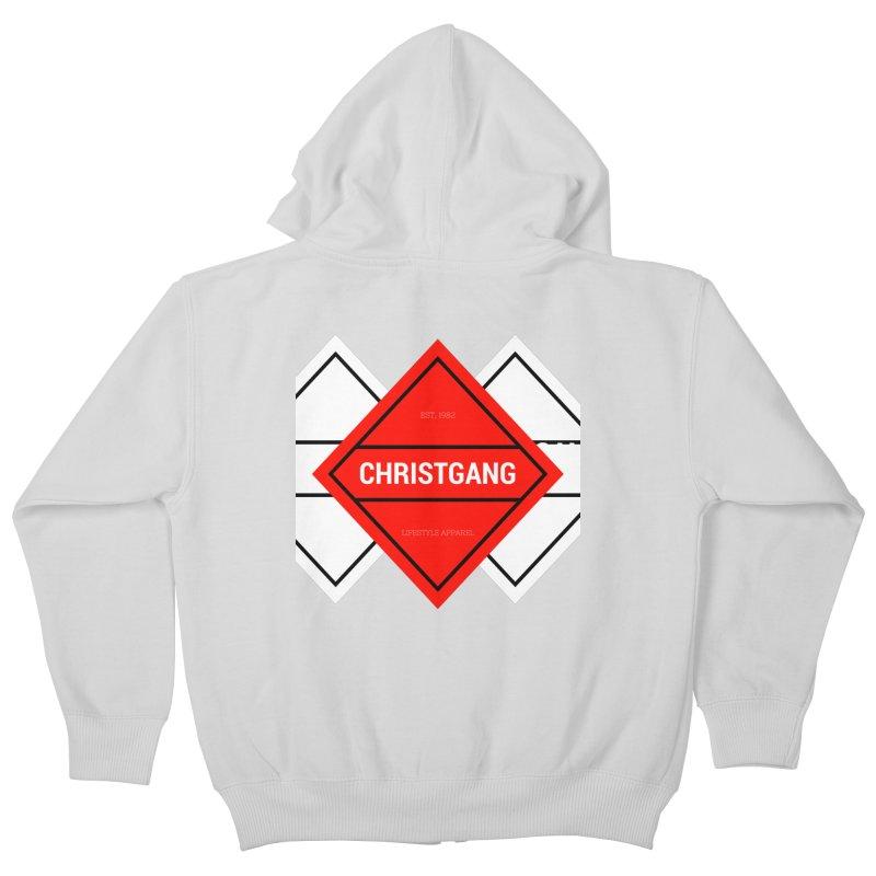 ChristGang Diamond Kids Zip-Up Hoody by ChristGang Apparel