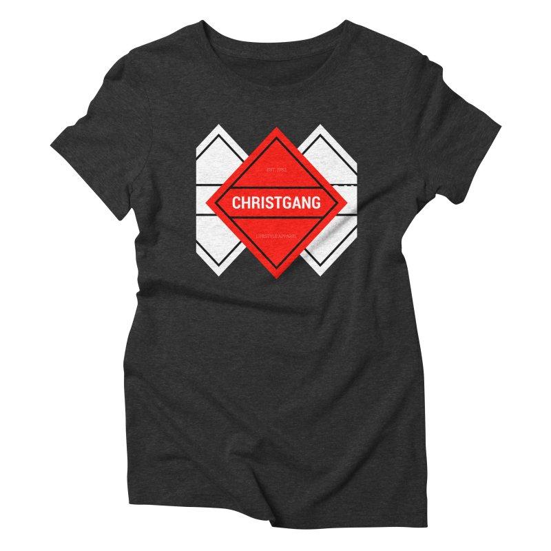 ChristGang Diamond Women's Triblend T-Shirt by ChristGang Apparel