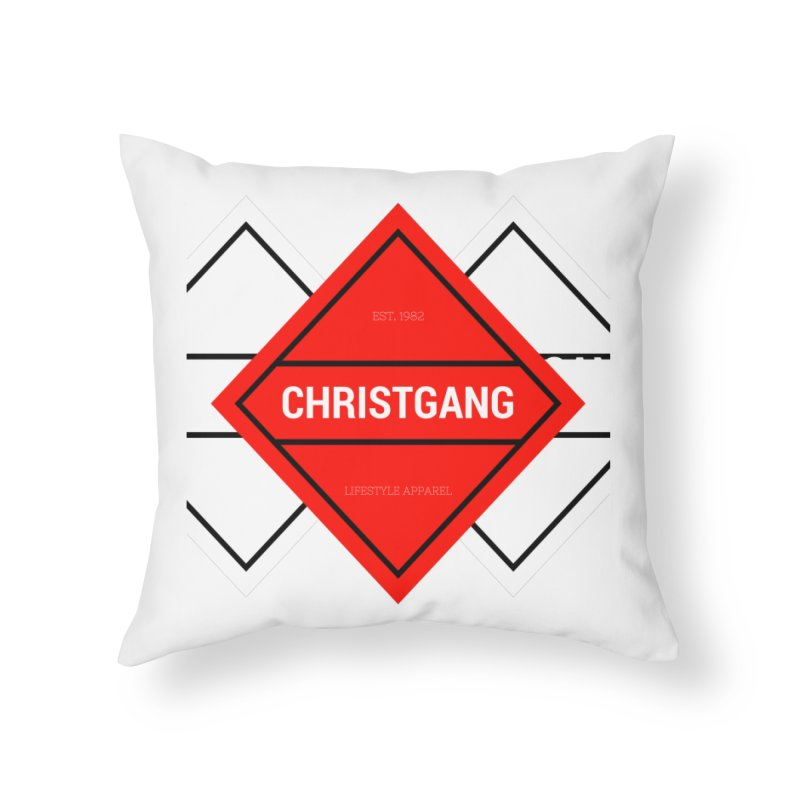 ChristGang Diamond Home Throw Pillow by ChristGang Apparel