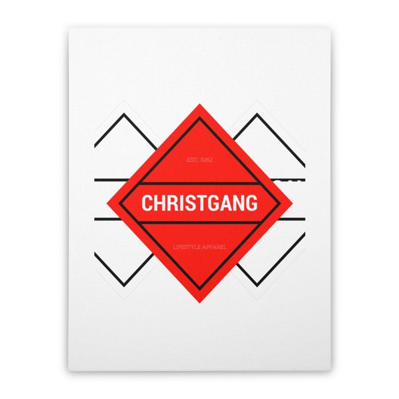 ChristGang Diamond Home Stretched Canvas by ChristGang Apparel