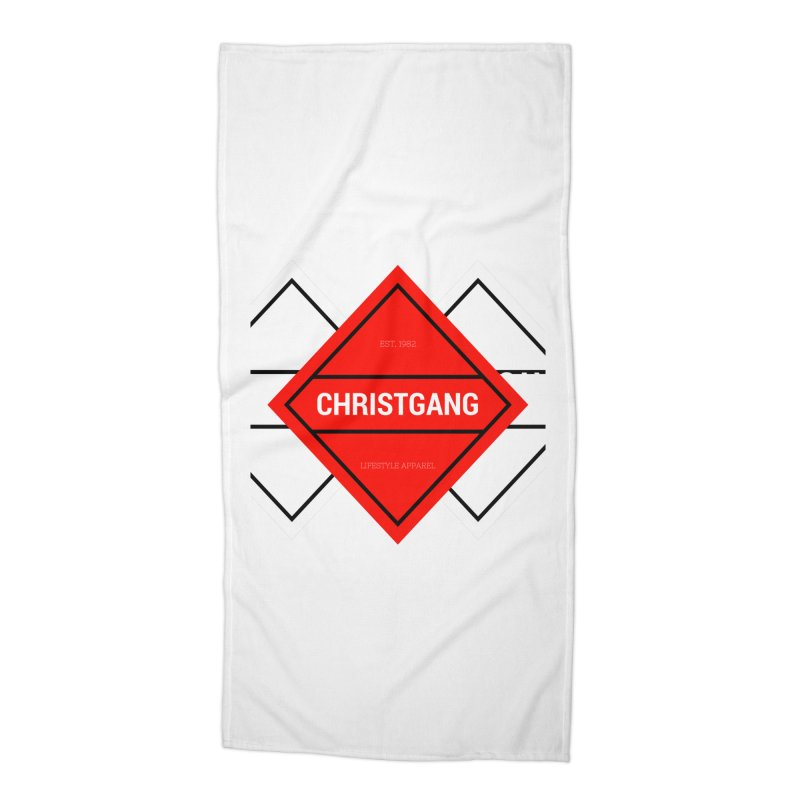 ChristGang Diamond Accessories Beach Towel by ChristGang Apparel
