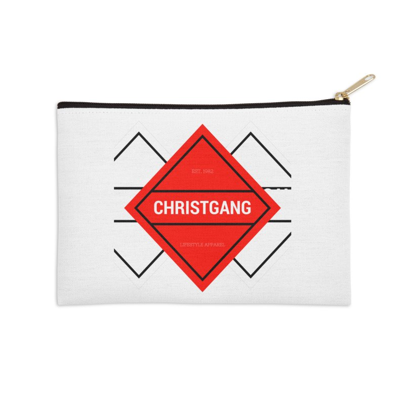 ChristGang Diamond Accessories Zip Pouch by ChristGang Apparel