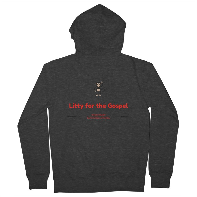 Litty For The Gospel 2 Men's French Terry Zip-Up Hoody by ChristGang Apparel